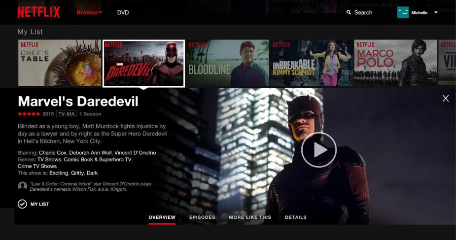Netflix nya design