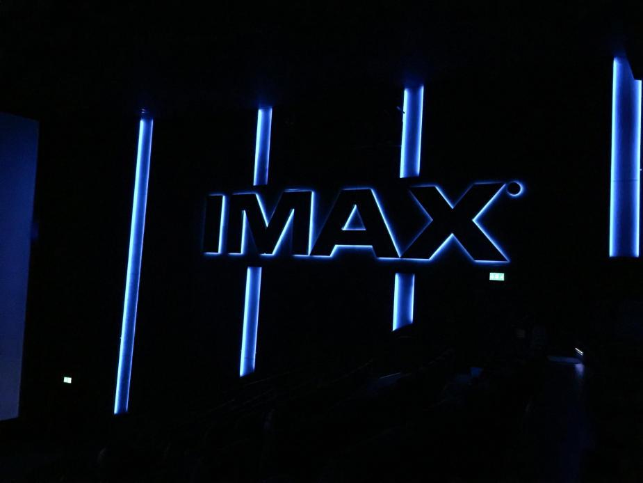 IMAX Logotypen inne i salongen